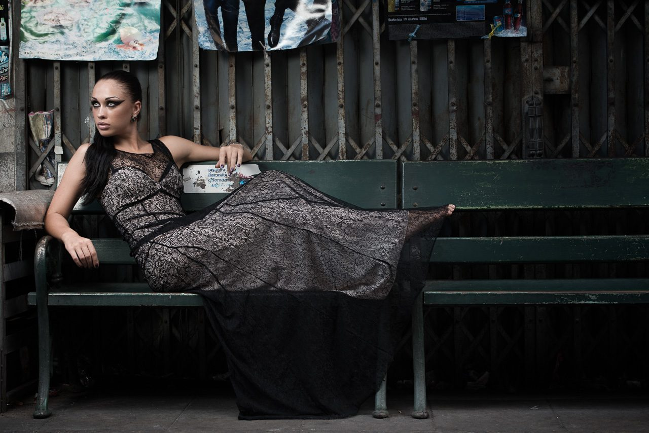 evening wear Bangkok street photography